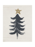 Black and Gold Tree I Poster von Linda Woods