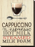 Cappuccino Expresso Stretched Canvas Print by Marco Fabiano