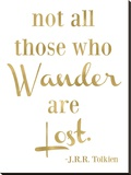 Wander Lost Golden White Stretched Canvas Print by Amy Brinkman