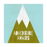 Adventure Awaits - Silouhette Typography Láminas por Shanni Welch