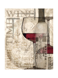 Red Wine Premium Giclee Print by Lisa Wolk