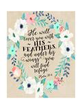 Psalm 91 4 Wreath Posters por Tara Moss
