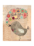 Thank You Bird Print by Katie Doucette