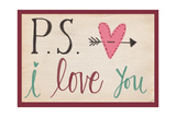 P.S. I Love You Print by Katie Doucette