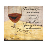Wine Is the Occasion Print by Lisa Wolk