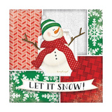 Let it Snow Snowman Print by Jennifer Pugh