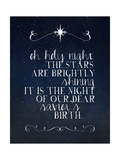Oh Holy Night Print by Amy Cummings