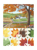 Maple Leaf Quilt Premium Giclee Print by Julie Peterson