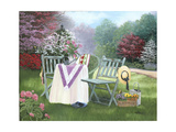Gardeners Oasis Premium Giclee Print by Julie Peterson