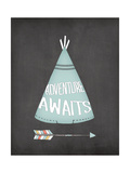 Teepee Adventure Awaits Prints by Jo Moulton
