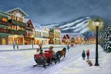Village de Noël Affiches par Julie Peterson