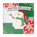 Winter Welcome Snowman Prints by Jennifer Pugh