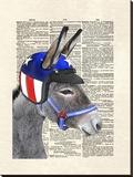 Eli Wonder Donkey Stretched Canvas Print by Matt Dinniman