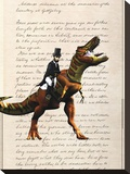 Lincoln T Rex Stretched Canvas Print by Matt Dinniman