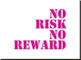 Quote No Risk Stretched Canvas Print by  Dash of Summer