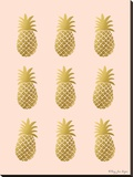 Pineapple Lot Stretched Canvas Print by Penny Jane