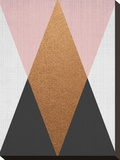 Geometric Pink Bronze Stretched Canvas Print by  LILA X LOLA