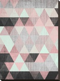 Geometric Small Stretched Canvas Print by  LILA X LOLA