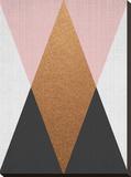 Geometric Pink Bronze Stretched Canvas Print by  LILA X LOLA