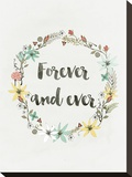 Wreath Forever And Ever Stretched Canvas Print by Ivana Sepa