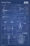 Star Wars- Rebel Blueprint Prints