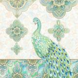 Emerald Peacock II Wood Print by Janice Gaynor