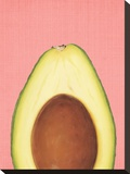 Peek A Boo Avocado Stretched Canvas Print by  LILA X LOLA