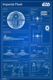 Star Wars- Imperial Blueprint Posters
