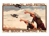 Shell Oil and Petrol Pigeons Prints