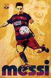 FC Barcelona- Lionel Messi 2015 Posters