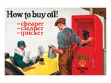 Shell-Buy Cheaper Cleaner Posters