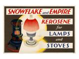 Shell Snowflake Kerosene Posters