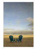 Schwartz - Two Beach Chairs Premium Giclee Print by Don Schwartz