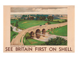 Shell See Britain Oxfordshire Print
