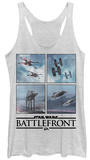 Juniors Tank Top: Star Wars Battlefront- Opposing Vehicles Débardeur