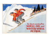 Shell Oil and Winter Petrol Poster