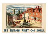 Shell See Britain Lavenham Print