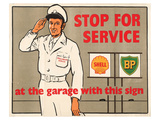 Shell Stop for Service Posters