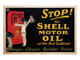 Stop for Shell Motor Oil Print