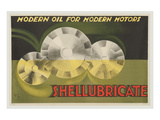Shellubricate Modern Oil Posters