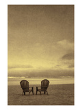 Schwartz - Two Beach Chairs Print by Don Schwartz