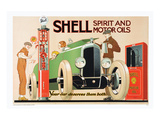 Shell Spirit and Motor Oils Posters