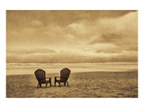 Schwartz - Two Chairs on the Sand Poster by Don Schwartz