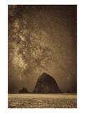 Sparkling Skies Over HaystacK Premium Giclee Print by Don Schwartz