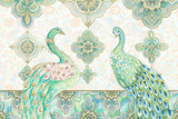 Emerald Peacock Rectangle Wall Mural by Janice Gaynor