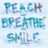 Reach, Breathe, Smile Wood Print by  SD Graphics Studio