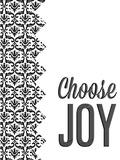 Be Simple Choose Joy II Wood Print by  SD Graphics Studio