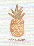 Tropical Drinks I Wood Print by  A Fresh Bunch