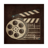 Now Showing Slate and Reel Print by Gina Ritter