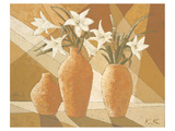 White Fire Lilies Giclee-tryk i høj kvalitet af Karsten Kirchner